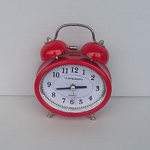 OVAL Bell Alarm Clock - Red