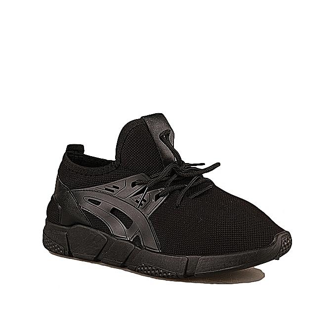 dc063497e Shifuren Formal Casual Primsoil Lace Up Sneakers - Black