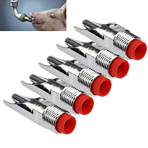 5Pcs Useful Stainless Steel Pig Nipple Automatic Sheep Waterer Drinker