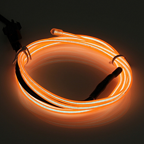 1M Glow LED Light EL Wire String Strip Rope Car Party Decor+3/12V/USB Controller