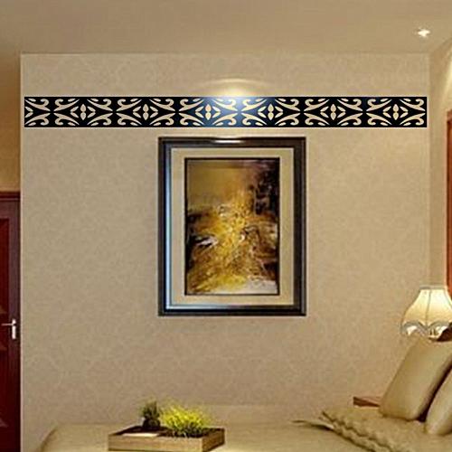 Lodaon 10pcs DIY Modern Acrylic Plastic Mirror Sticker Ar-hall Bedroom 20*8cm