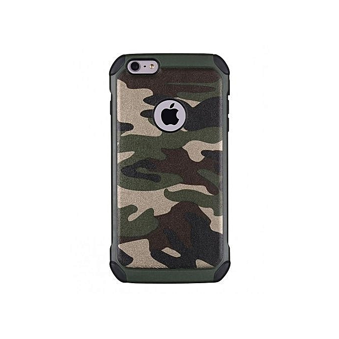 57c59f9b60 Generic IPhone 7 Plus Camouflage Defender Back Case - Army Green ...