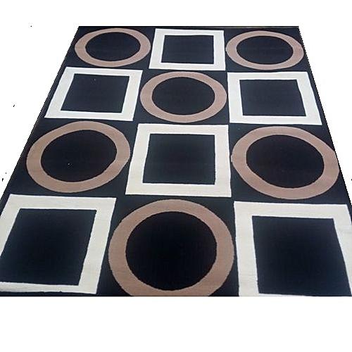 5feet *7feet Centre Rug-black