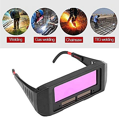 Upgrade Solar Auto Darkening Welding Goggle Anti-Flog Glare