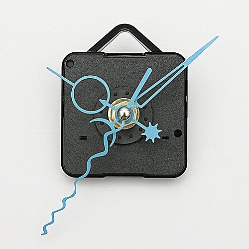Blue Hands DIY Quartz Black Wall Clock Spindle Movement Mechanism Repair Partss
