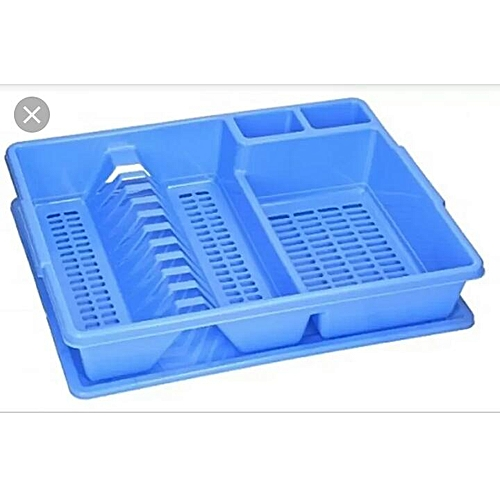 Single Dish Drainer/Plate Rack- Blue