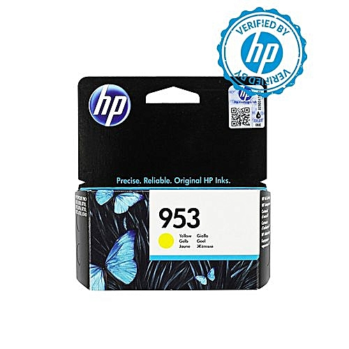 953 Yellow Ink Cartridge - F6U14AE BGX + FREE HP A4 Paper