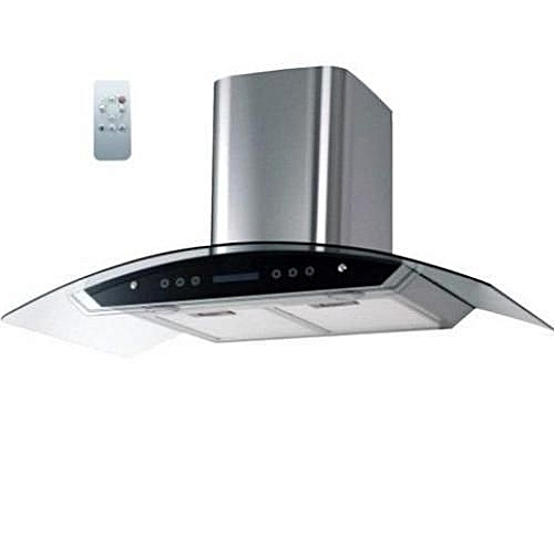 Digital Cooker Hood With Vent + Non Vent Black - 90cm (CHARCOL FILTER) With REMOTE CONTROL HD70