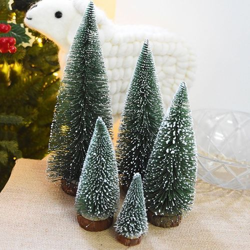 kokobuy artificial christmas trees small simulation plant snowy desktop christmas tree - Small Artificial Christmas Tree