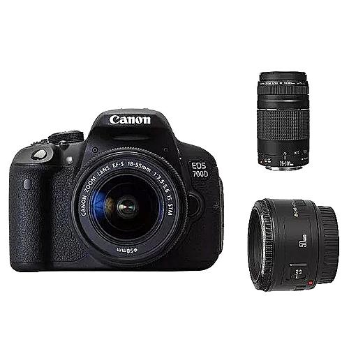 Canon 700D + 18-55mm + 75-300mm Lens