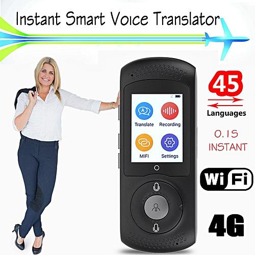 2.0Inch Screen Portable Wifi Smart Translator Voice 45 Language Real Time 2-Way Translation For Business Meeting Russian English WAAAA