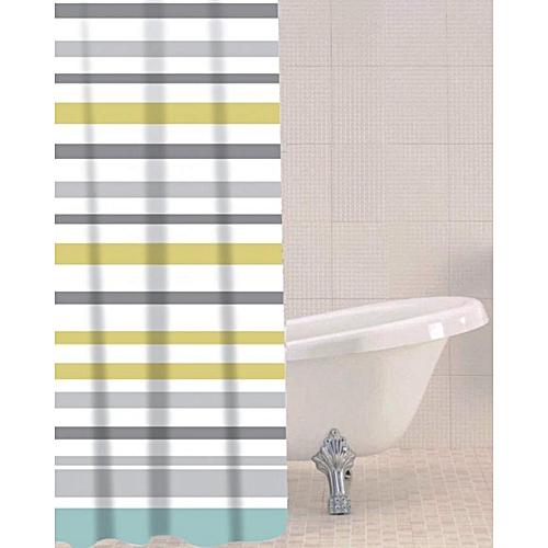 Sea Stripe Peva Shower Curtain
