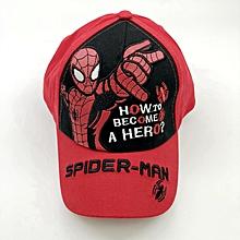 a0f6b443aac6c Kids Boys Baseball Cap Super Hero Spider Man Cartoon Hat - Red