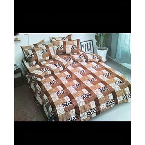 Comfort Driven Duvet, Bedsheets +4 Pillow Cases- Brown