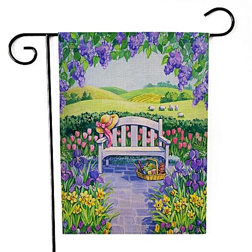 Correponde Garden Flag Indoor Outdoor Home Decor Letters Flowers Flag