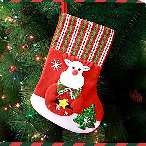 Christmas Santa Socks Cute Ornaments Festival Party Xmas Tree Hanging Decoration Wannag