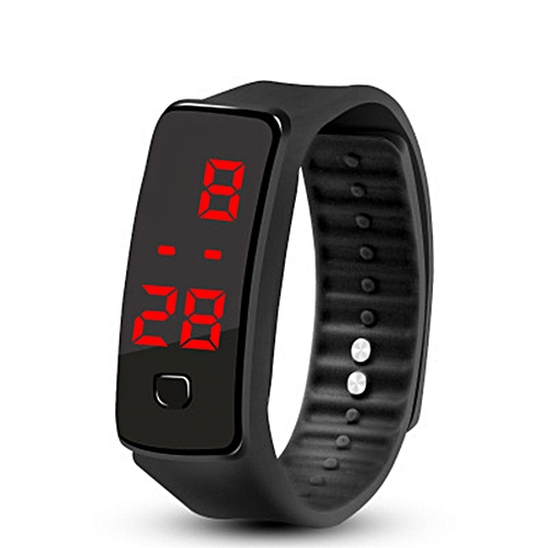 Creative LED Silicone Wristband Bracelet Fashion Fitness Sports Band Watch