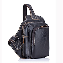 6d989355a61d Bullcaptain® Men Genuine Leather Sling Bag Business Casual Outdoor Chest  Crossbody Bag For Ipad Mini