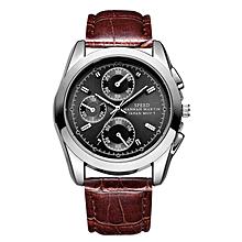 184ba3a2c55 Men  039 s Quartz Watch Top Grade Stylish Analogue Watch Geniune Leather  Watch Waterproof