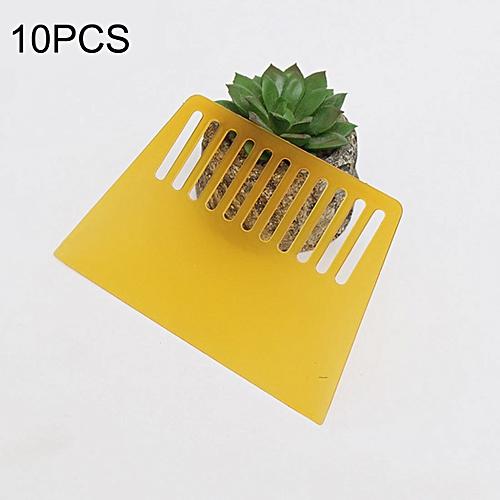 10 PCS Plastic Scraper For Wallpapering, Automotive Glass Foil, Pancakes ᆪᆲDecorating Tool(Yellow)