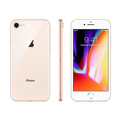 IPhone 8 4.7-Inch HD (2GB,64GB ROM) IOS 11, 12MP + 7MP 4G Smartphone Gold LTE Cellular MQ6M2LL/A