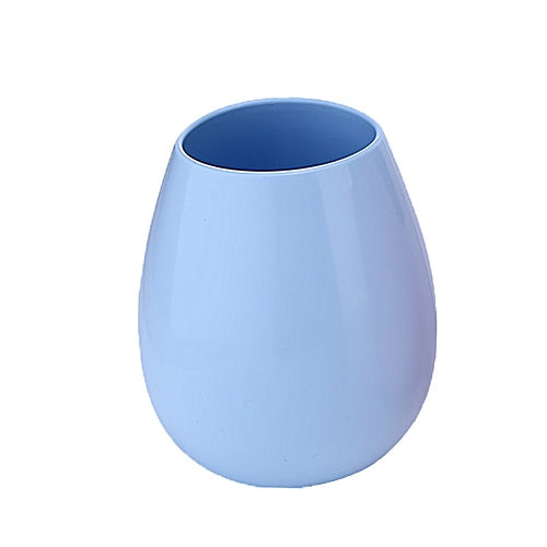 NEW Silicone Wine Glasses Shatterproof Rubber Drinking Cups, 12oz, Light Blue