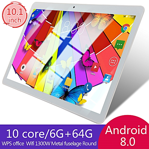 64GB+4G Android 7.0 Tablet PC Octa 8 Core HD WIFI Bluetooth 2 SIM 4G 10.1'' Hot