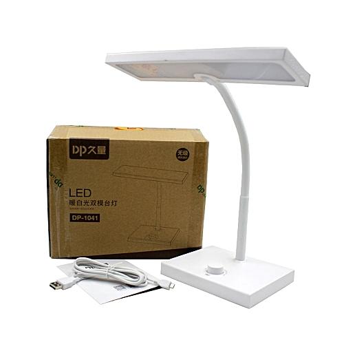 1200mAh Rechargeacle 40pcs Led Desk Lamp USB Modern Table Lamp 3 Light Modes Reading Children Learn Eyes Protection Desk Light(White)