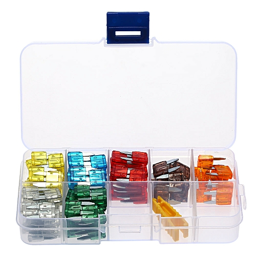 120pcs Assortment Car Mini Fuse 5A 7.5A 10A 15A 20A 25A 30A Amp Zinc Auto Blade Type Fuses With Clip For Vehicle Boat Truck SUV