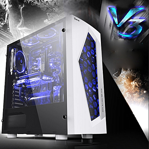 ATX Mid Tower Computer Gaming Extra Air Flow Dust Filter PC Case W/ 8 Fan Ports
