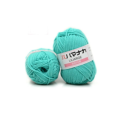 4 Shares Combed Milk Cotton Yarn Wool Blended Yarn Apparel Sewing Yarn Fruit Green