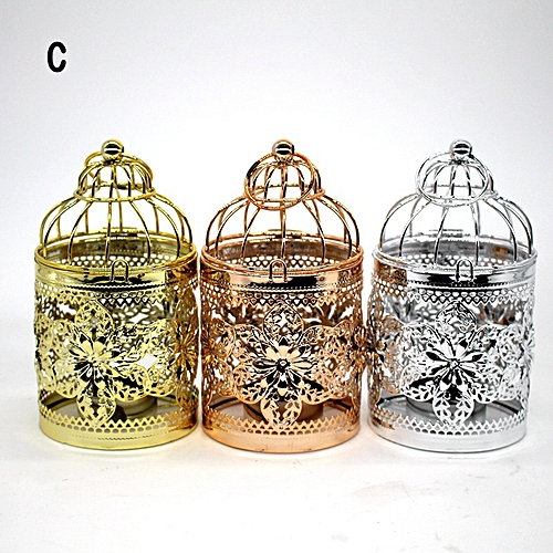 Creative Bird Cage Dinner Candleholder With European Style