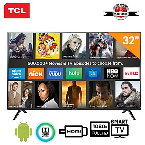 32-Inch Android Smart Ultra Thin Full HD TV With Bluetooth + 12 Months Warranty