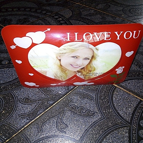 Glass LOVE Photo Frame For Table Decoration