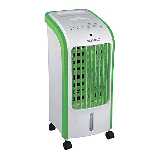 EVAPORATIVE AIR COOLER WITH HUMIDIFIER AND REMOTE
