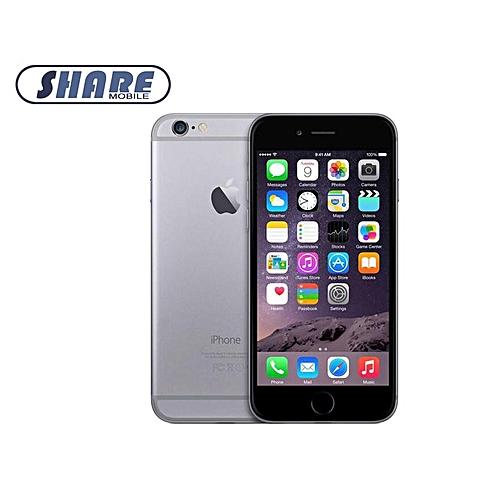 IPhone 6 16GB Smartphone Apple Certified 4.7 Inch Finger Sensor- Black Grey(Refurbished)