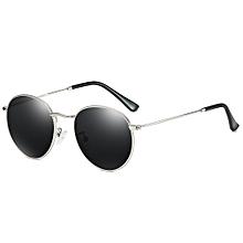 f4ef700a88c2c Round Sunglasses Men Polarized Shades Women Metal - Black