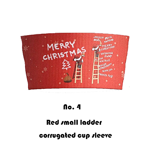 6Pcs Disposable Christmas Cup Set For Coffee Cup Water Glass Christmas Style