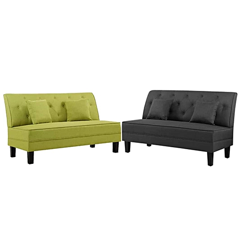 Armless Sofas. Lemon And Black.colour. Delivery Only In Lagos