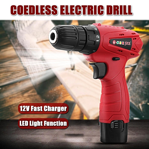 12V Cordless Rechargeable Drill Driver Screw Electric Screwdriver