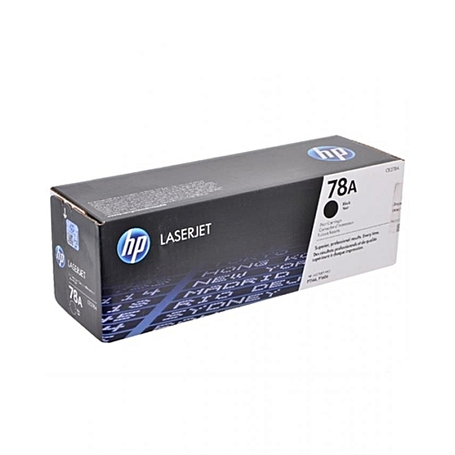 78A Black Genuine LaserJet Toner Cartridge (CE278A)