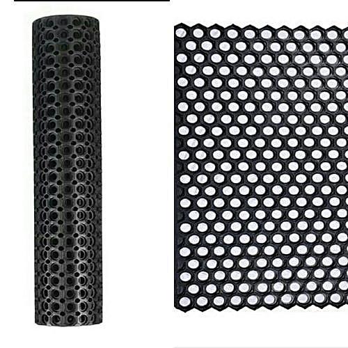 Large Size Rubber Hollow Mat - Black