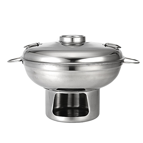 Multi-Cooker 22cm Stainless Steel Shabu Shabu Hot Pot With Alcoho Burner And Lid