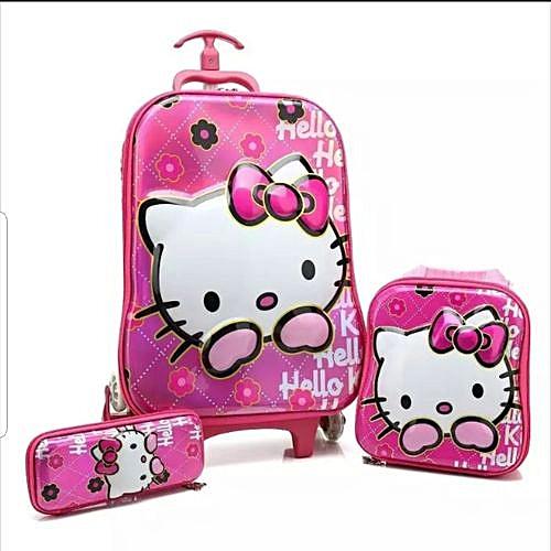 Hello Kitty Trolley School Bag - 3 In 1