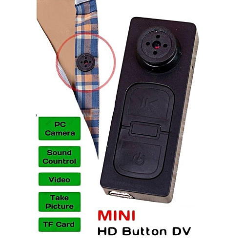 Mini Button Spy Video Camera
