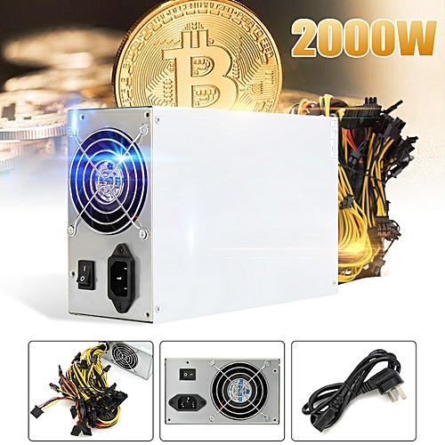 8 CPU 2200W Mining Machine Power Supply For Antminer S7 S9 Bitcoin Miner W New