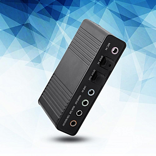 6 Channel Sound Card USB External Digital Optical SPDIF Audio Output Adapter For PC