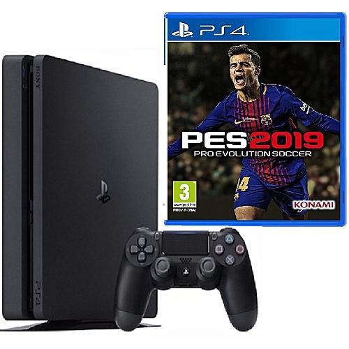PS4 Slim 500GB Console + Pro Evolution Soccer (PES) 2019