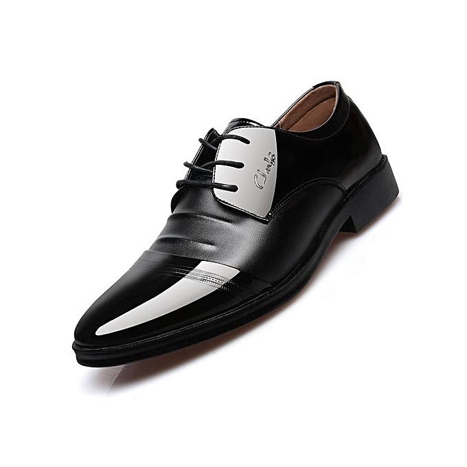 Fashion Super Size Men S Dress Classic Lace Up Leather Slip Casual