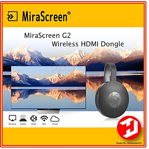 Mirascreen G2 Wireless WiFi Display Dongle Receiver 1080P HD TV Stick IOS12 Airplay Android Miracast Media Streamer Adapter Media For Phone TV (Black) HSL-A